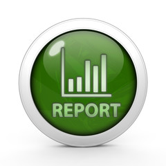 Report circular icon on white background