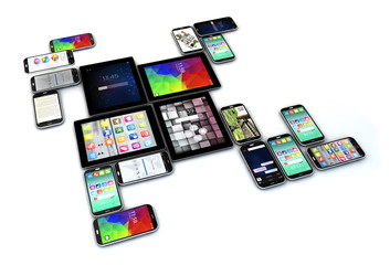 touchscreen devices isolated