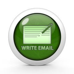 email circular icon on white background