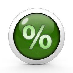 Percent circular icon on white background