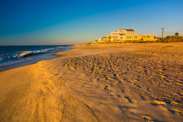 The beach at sunrise at Edisto Beach, South Carolina.
