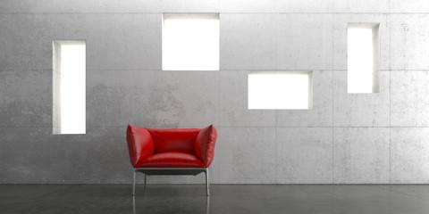 Sessel, Rot, Sitzen, Wohnen, Design, Interieur