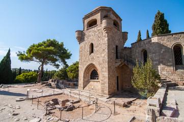 Башня крепости Филеримос на острове Родос Греция