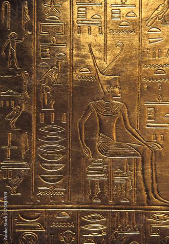 Deurstickers Egypte Egyptian hieroglyphics