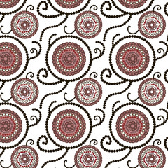decorative seamless background with round elements