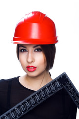 girl in a hard hat