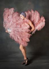Demure burlesque dancer