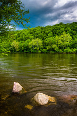 The Delaware River, north of Easton, Pennsylvania.