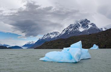 Shatter of a blue iceberg
