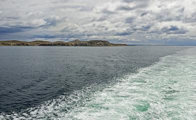 Strait of Magellan and Magdalena island