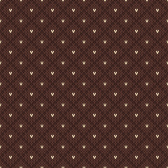 Knitted seamless pattern in Fair Isle style