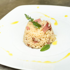 Risotto al bacon