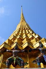 Golden Buddhist stupa, Bangkok, Thailand
