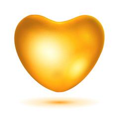 Big gold heart