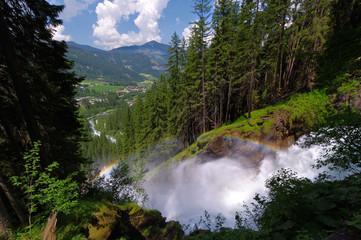 Krimmler (Krimml) waterfall. Highest fall in Austria
