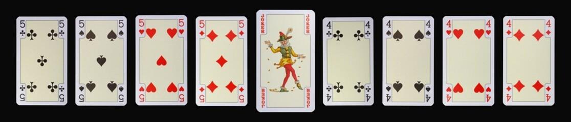 Spielkarten der Ladys - FÜNF - JOKER - VIER