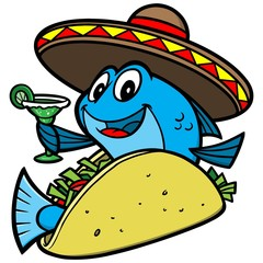 Fish Taco Cartoon