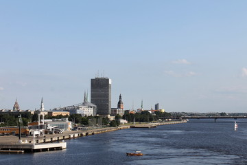 View of the port ,Riga