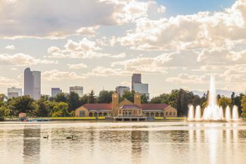 Scenic of Denver Colorado skyline