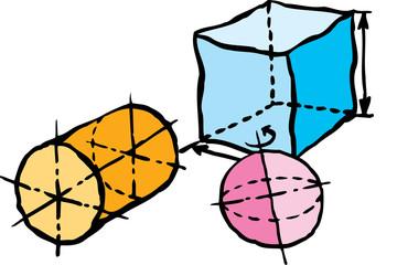 Solidi geometrici schizzo