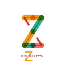 Minimal line font design, letter Z