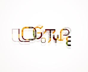 Logo word font design