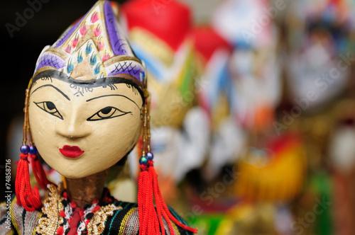 Foto op Plexiglas Indonesië Indonesia, Bali, Traditional puppet