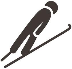 ski jumping icon