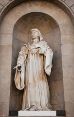 Ancient sculpture depicting  Spanish nobleman