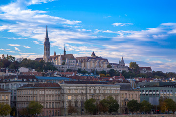 View of Buda part in Budapest  St. Matthias church