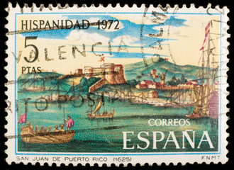 Spanish vintage postage stamp