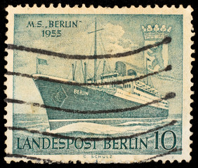 Vintage West Berlin stamp