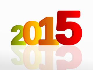 Year 2015 colorful illustration