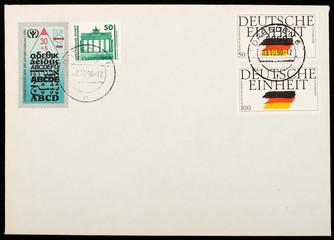 German mailing envelope