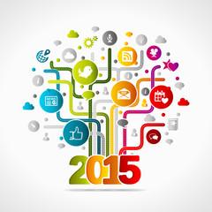 2015 social media concept