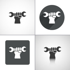 Service icon. Set elements for design. Vector illustration.