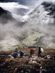 Men during a hiking trip in the Austrian Alps