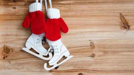 Holztafel, winterlich, Wunschzettel