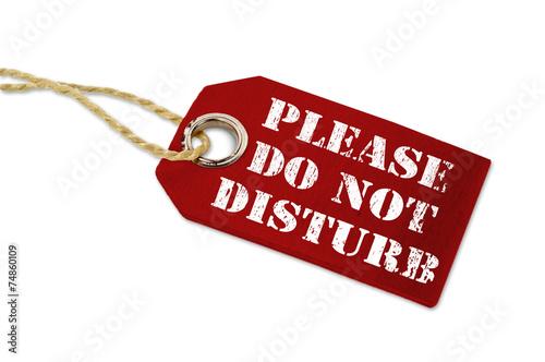 canvas print picture Anhänger mit Do Not Disturb