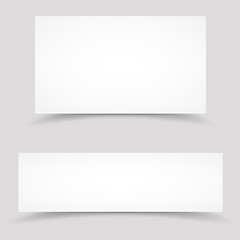 Vector blank white paper banners temolate
