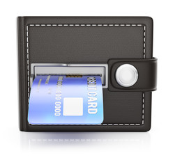 ATM wallet with credit card
