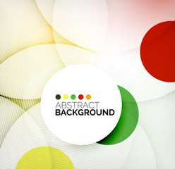 Colorful circles modern abstract composition