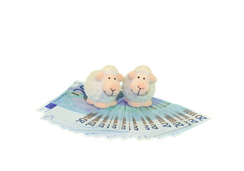 Sheep on White on Money