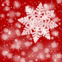 Red blurry snowflake background