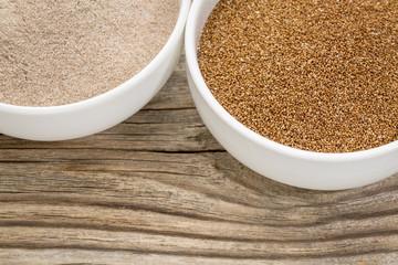 teff grain and flour
