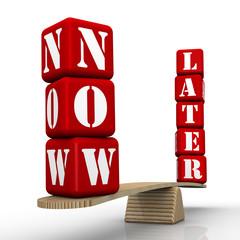 Сейчас или потом (Now or later). Сравнение на весах
