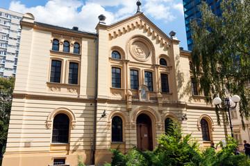 Synagogue in Warsaw, Poland. Nozyk Synagogue
