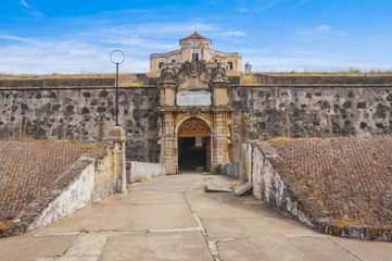 Gate of the Our Lady of Grace Fort in Elvas (Portugal)