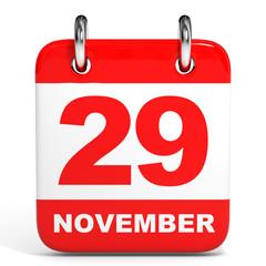 Calendar. 29 November.
