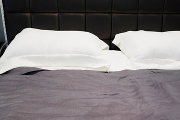 close-up of a white pillow